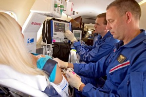 Jet Rescue Air Ambulance medical team treat patient onboard Learjet 35